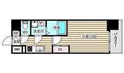 S-RESIDENCE福島grande 8階1Kの間取り