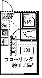 フェリスモナ[103号室]の間取り