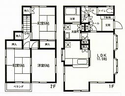 [一戸建] 神奈川県茅ヶ崎市柳島1丁目 の賃貸【/】の間取り