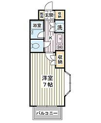 エステージ浦安[2階]の間取り