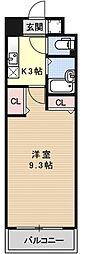 プラネシア星の子京都駅前[901号室号室]の間取り