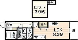 広島電鉄宮島線 東高須駅 徒歩5分の賃貸アパート 1階ワンルームの間取り
