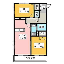 KGビル[3階]の間取り