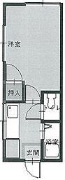 ベストメゾン溝の口[2階]の間取り