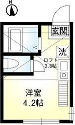 Primo井土ヶ谷[2階]の間取り