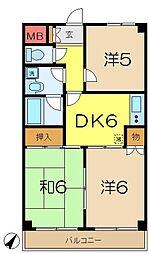 弘明寺パークコート[5階]の間取り