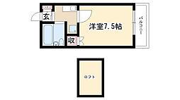愛知県名古屋市南区中江2丁目の賃貸マンションの間取り