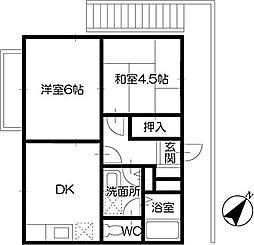 グリーンハイツB(川島町)[B201号室]の間取り