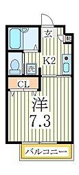 モンシャトー[1階]の間取り
