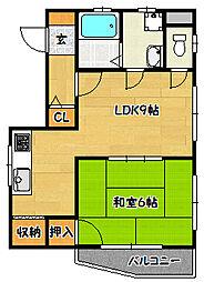 田海マンション[3階]の間取り