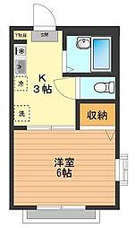 エトワール散田[1階]の間取り