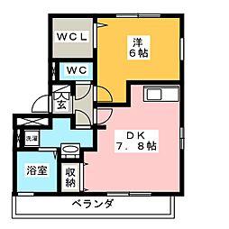 シオン[1階]の間取り