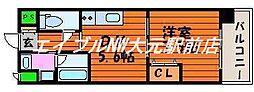 アトーレ野田[2階]の間取り