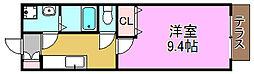 メゾン長曽根[1階]の間取り