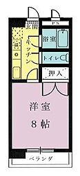 フォルム宮崎駅前[505号室]の間取り