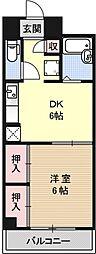 レジデンスオークラ[B202号室号室]の間取り