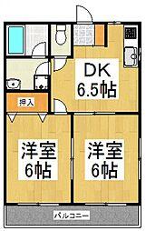 ハイツSARA[1階]の間取り