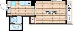 兵庫県神戸市中央区下山手通4丁目の賃貸アパートの間取り