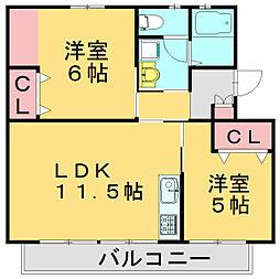 城戸ビル[1階]の間取り