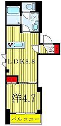 東武東上線 北池袋駅 徒歩4分の賃貸マンション 3階1LDKの間取り