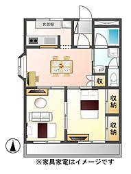 グランシャリオ96[2階]の間取り
