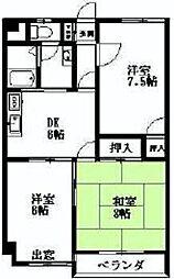 パークシティマンション狭山[2階]の間取り