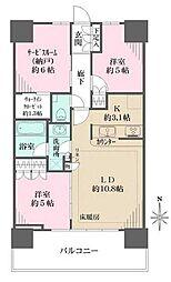 つくばエクスプレス 浅草駅 徒歩4分の賃貸マンション 21階2SLDKの間取り