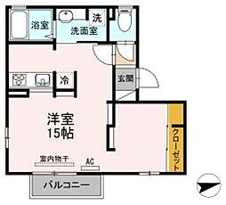 プロシア B棟[2階]の間取り