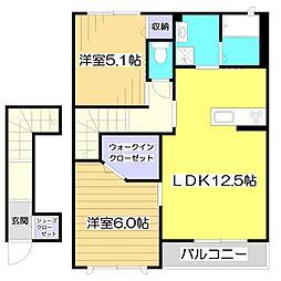 新築)荻II 〜Ogi〜[2階]の間取り