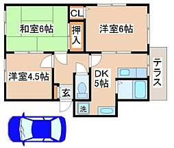 兵庫県神戸市須磨区妙法寺字菅ノ池の賃貸アパートの間取り