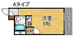 ロレーヌ住之江[3階]の間取り