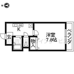 ハピネス神宮道[205号室]の間取り