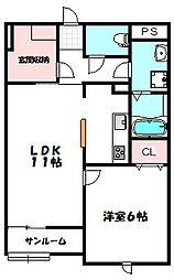 ロイヤルハイム[1階]の間取り