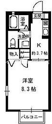 岡山県玉野市田井6丁目の賃貸アパートの間取り