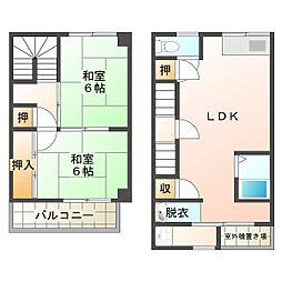兵庫県神戸市垂水区高丸5丁目の賃貸マンションの間取り