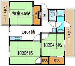 喜連団地[4階]の間取り