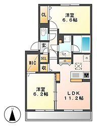 (仮称)D−room吉津[1階]の間取り