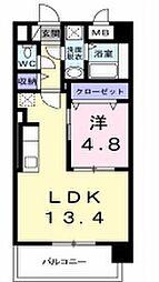 OSANPO上津[4階]の間取り