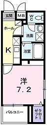 兵庫県姫路市阿保の賃貸マンションの間取り