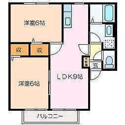 シャルム[2階]の間取り