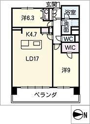 ロイヤルパークスERささしま(東棟)[15階]の間取り