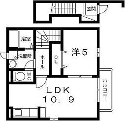 メゾン ドゥ ソレイユ[203号室]の間取り