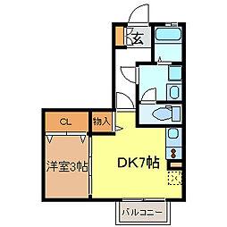 ハイネス千代ヶ丘[2階]の間取り