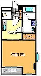 東京都足立区東綾瀬2丁目の賃貸マンションの間取り