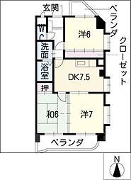 アベニュー21[3階]の間取り
