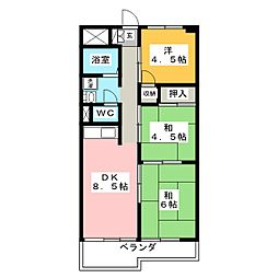 銀杏町庄司マンション[4階]の間取り