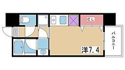 アーデンタワー神戸元町[905号室]の間取り