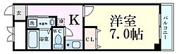Osaka Metro谷町線 野江内代駅 徒歩4分の賃貸マンション 5階1Kの間取り