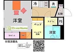 神奈川県横浜市緑区上山2丁目の賃貸アパートの間取り
