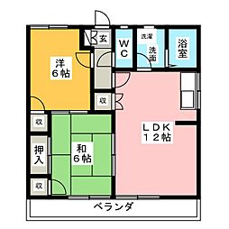 ハミング清城[1階]の間取り